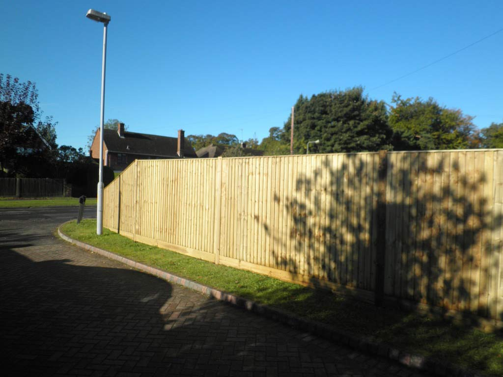 Tall Close Board Fence