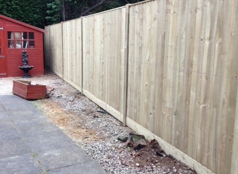 Garden Close Board Fence