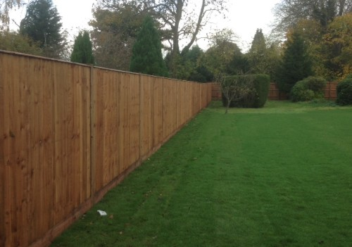 Long Close Board Fence