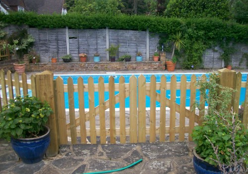 Picket Gates around swimming pool