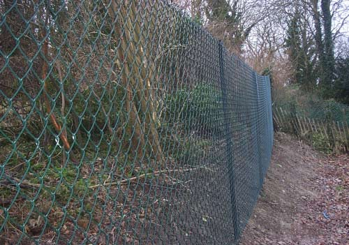 Security Fencing - Green Chain Link
