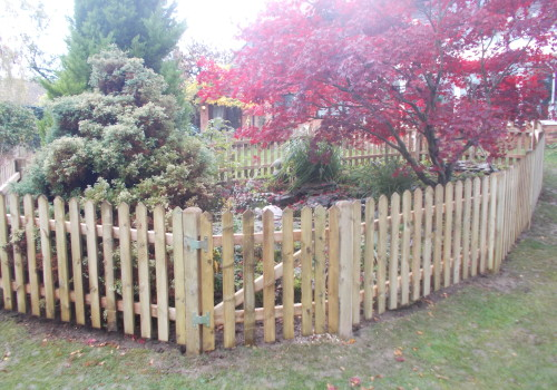 child safe pond with picket fence